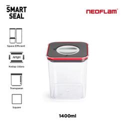 NI Neoflam Smart Seal Kotak Makan Kedap Udara Square 1400ml