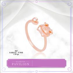 Cincin Emas Batu Berlian Pig And Love Ring Diamond Pavilion
