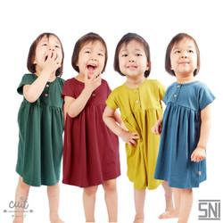 CUIT Super Soft Organic Cotton Aoi Dress Toddler Shika Series