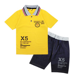 Wakakids Kaos Krah Anak Laki Motif Kids Boy Setelan Jeans Pendek 3466