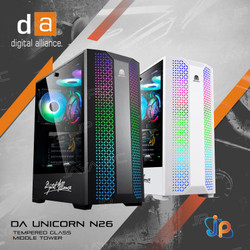 Digital Alliance Gaming CPU Case N26 - Tempered Glass Chassis