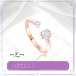 Cincin Emas Batu Berlian Circle Shape Diamond Pavilion - Ring