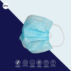 MASKER KESEHATAN SURGICAL MASK DISPOSABLE 3 PLY 1 BOX 50pcs