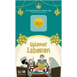 LOGAM MULIA MINI GOLD HARTADINATA HA 0.1GR 0,1GRAM IDUL FITRI