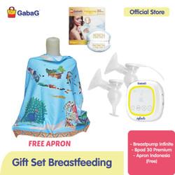 Gabag - Bundling Infinite Double Breastpump free Apron