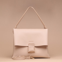 Tas Wanita Silvertote Carmen Shoulder Bag Creme