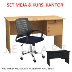 Set Meja dan Kursi Kerja Murah | KMS002 GOJEK