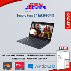 Lenovo Yoga 6 13ARE05 54ID Ryzen 5 PRO|16GB|512GB|Win 10 & OHS 2019