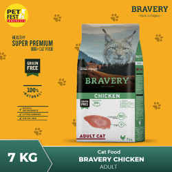 Bravery Chicken Adult CAT 7kg - cat food - makanan kucing