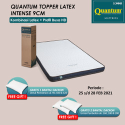 Quantum Latex Topper 9cm Intense Mattress - Kasur Springbed Spring Bed