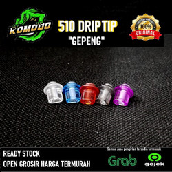 Komodo Drip Tip 510 Clear Whistle 100% Authentic| Driptip 510 Gepeng