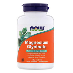 Vitamin MIneral Magnesium Glycinate Now 180 Tablets