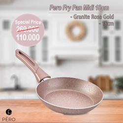 PERO FRY PAN MIDI 18CM - ROSEGOLD