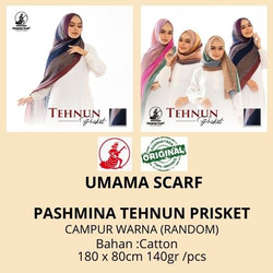 Grosir PASHMINA TEHNUN PRISKET by Umama Scarf RANDOM WARNA