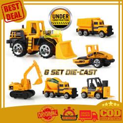 Construction Play Set Die Cast Metal Super Builder Mainan Mobil Truck
