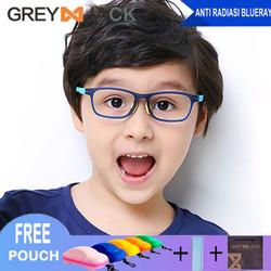 Grey Jack kacamata anti radiasi anak anti sinar biru bahan lentur 2105