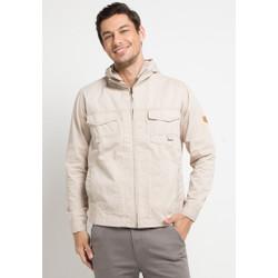 Emba Classic-Lerk Jacket Pria Warna Cream