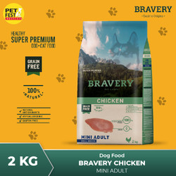BRAVERY Dog Food Rasa Chiken 2kg