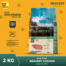 BRAVERY Dog Food Rasa Chiken Mini Puppy 2kg