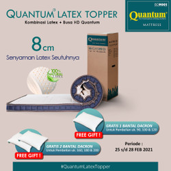 Quantum Latex Topper 8 cm Mattress / Kasur Springbed / Spring Bed