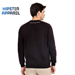 HIPSTER Boy Outfit Premium Sweater Simple Black