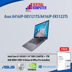 Asus A416JP-EK5121TS/EK5122TS|i5-1035G1|256PCIE+1TB|W10Home & OHS 2019