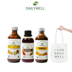 Dailywell Healthy Package+Tas Spundbond(lemon mix,turmerix,date honey)