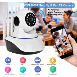 (full Color Night Vision) Kamera CCTV IP Wifi 1080p Fhd 2mp Dengan 5 A