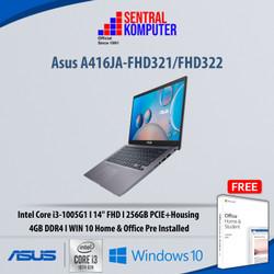 Asus A416JA-FHD321/FHD322|i3-1005G1|4GB|256GB PCIe|W10 Home & OHS 2019