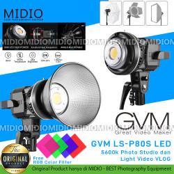 GVM LS-P80S LED Light 5600K Light Photo Studio dan Light Video VLOG