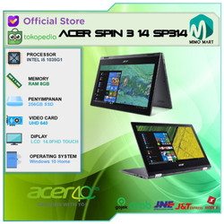 Acer Spin 3 14 SP314 2in1 Touch i5 1035G1 8GB 256ssd W10 14.0FHD