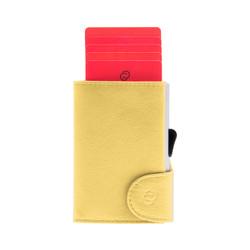 C-Secure Italian Leather RFID Wallet Giallo Solle Dompet Kartu Pria