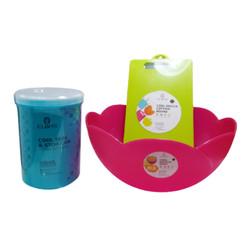 Claris Paket Perlengkapan Adonan Kue/ Wadah saji Mix color