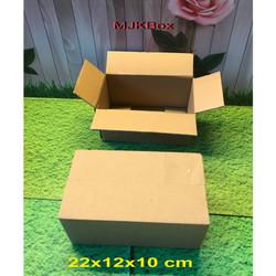 Kardus karton box Uk.22x12x10 cm..Double wall