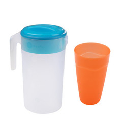 Paket Hemat Teko Plastik set gelas/Set Teko dan gelas Mix Color