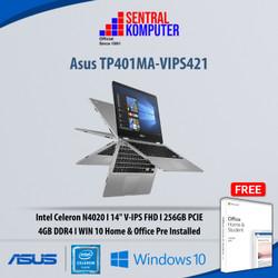 Asus TP401MA-VIPS421|Intel Celeron N4020|4GB|256GB PCie|Win10H & OHS