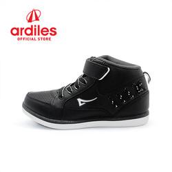 Ardiles Kids Grained K Sepatu Sneakers - Hitam Putih