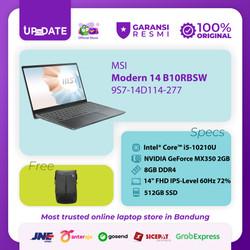 MSI Modern 14 B10RBSW [9S7-14D114-277] i5-10210U 8GB 512GB MX350 2GB