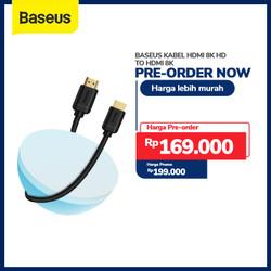 BASEUS KABEL HDMI 8K HD TO HDMI 8K HD ADAPTER CABLE HDR