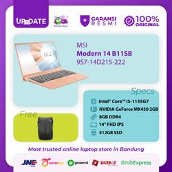 MSI Modern 14 B11SB [9S7-14D215-222] i5-1135G7 8GB 512GB MX450 2GB