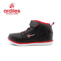 Ardiles Kids Grained K Sepatu Sneakers - Hitam Merah