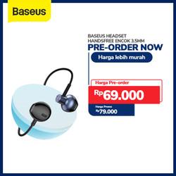 BASEUS HEADSET HANDSFREE ENCOK 3.5MM WIRED EARPHONE H19