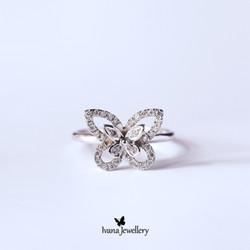 Cincin Berlian Kupu - Ivana Jewellery