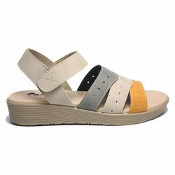 Dr. Kevin Women Flat Sandals 571-549 - Cream/Combination