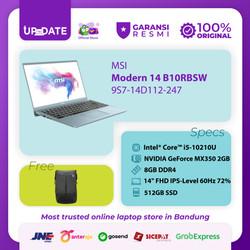 MSI Modern 14 B10RBSW [9S7-14D112-247] i5-10210U 8GB 512GB MX350 2GB