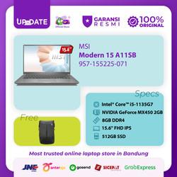 MSI Modern 15 A11SB [9S7-155225-071] i7-1165G7 16GB 512GB MX450 2GB