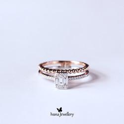 Diamond Ring 2 Layer - Ivana Jewellery