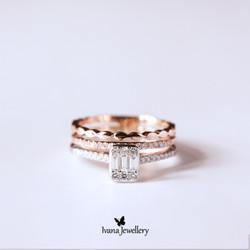 Cincin Berlian 3 layer - Ivana Jewellery