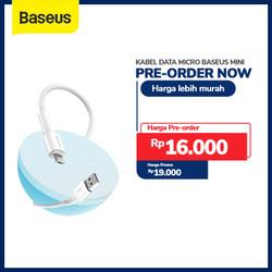 KABEL DATA MICRO BASEUS MINI WHITE CABLE FOR MICRO 2.4A