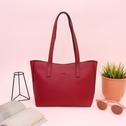 Bag by Zoe Tote Bag Premium Heather (color Red and Blue)